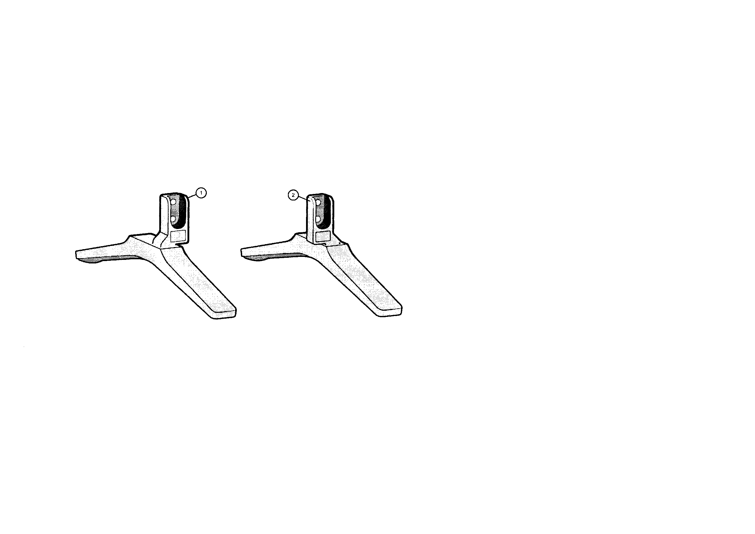 Sony XBR-65X900B table top stand diagram