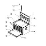 Craftsman 706407620 tool chest diagram