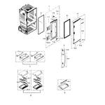 Samsung RF30HBEDBSR/AA-03 refrigerator door r diagram