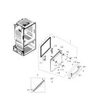 Samsung RF23HCEDTSR/AA-04 freezer door diagram