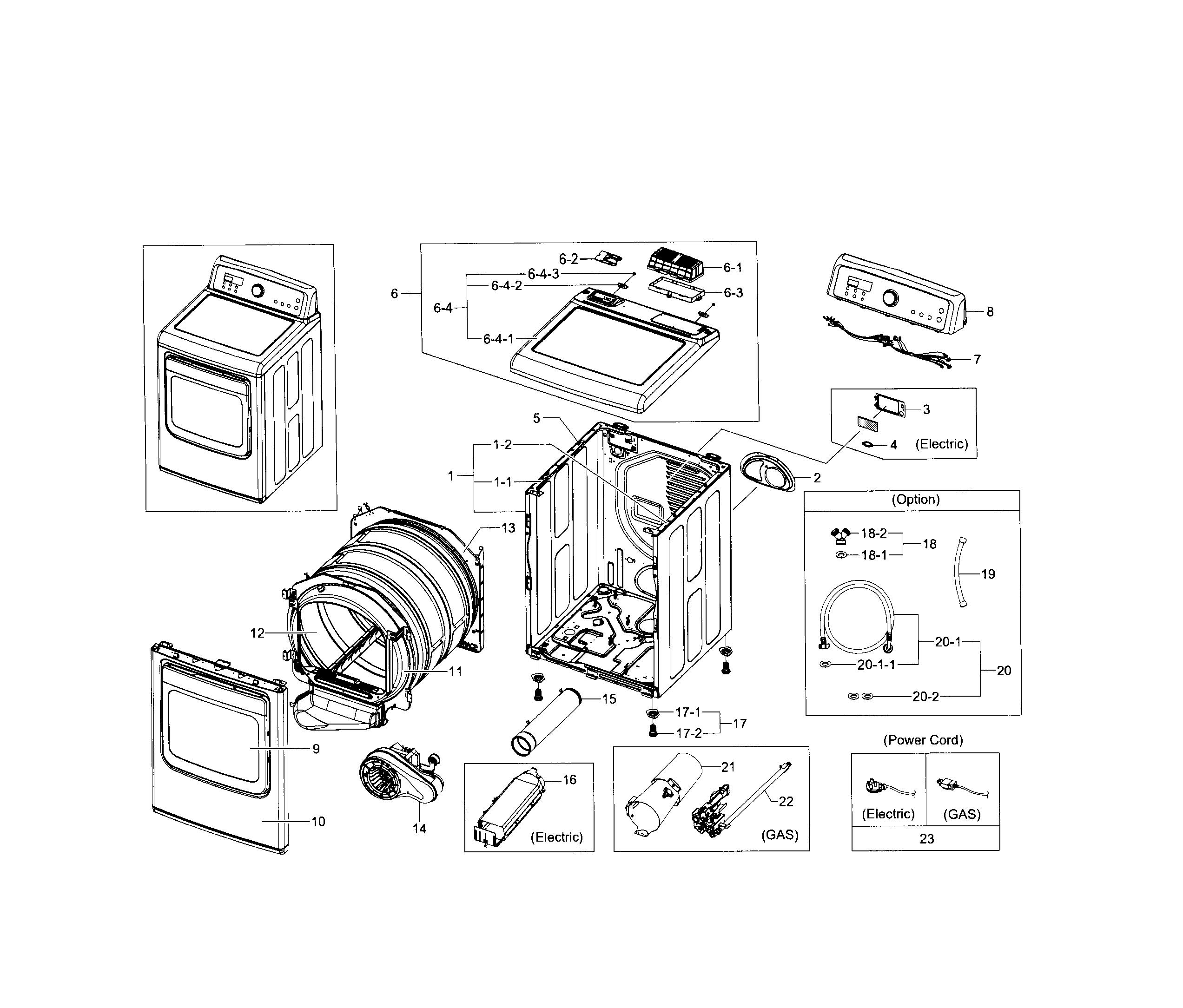 Samsung  Dryer  Main assy