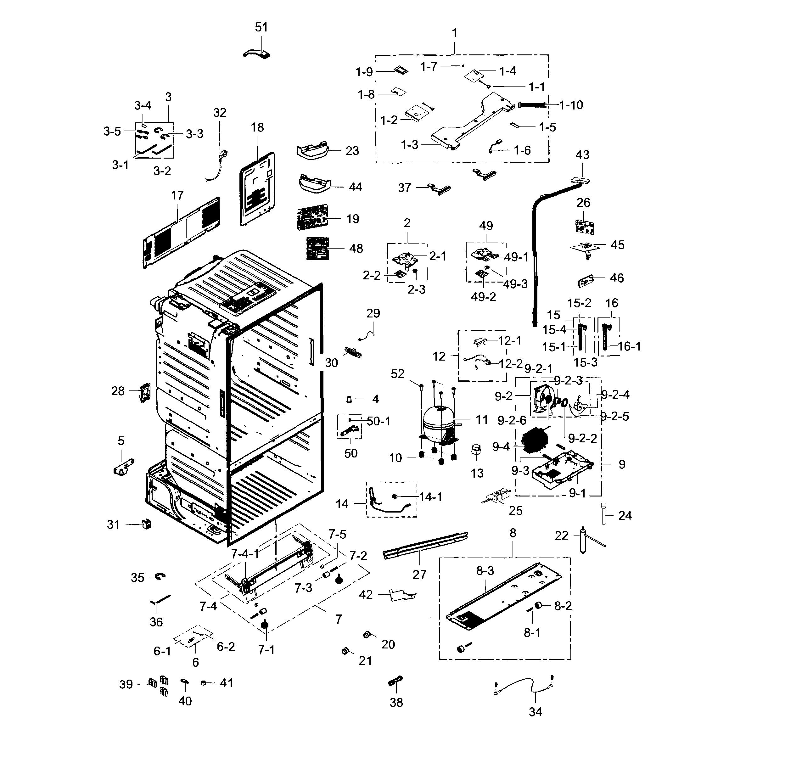 Samsung  Refrigerator  Cabinet