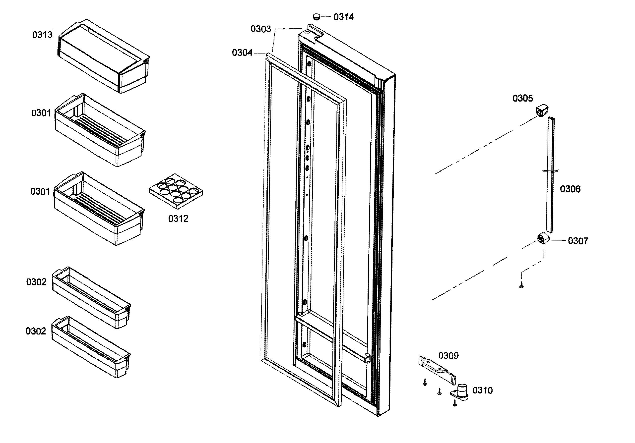 Bosch  Refrigerator  Door 2