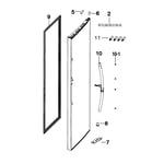 Samsung RH25H5611SR/AA-00 door-outer-fridge diagram