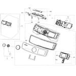 Samsung DV50K7500EV/A3-00 control panel diagram