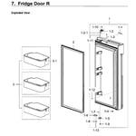 Samsung RF28K9070SG/AA-02 fridge door rt diagram