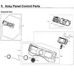 Samsung WF45M5500AW/A5-00 control panel diagram
