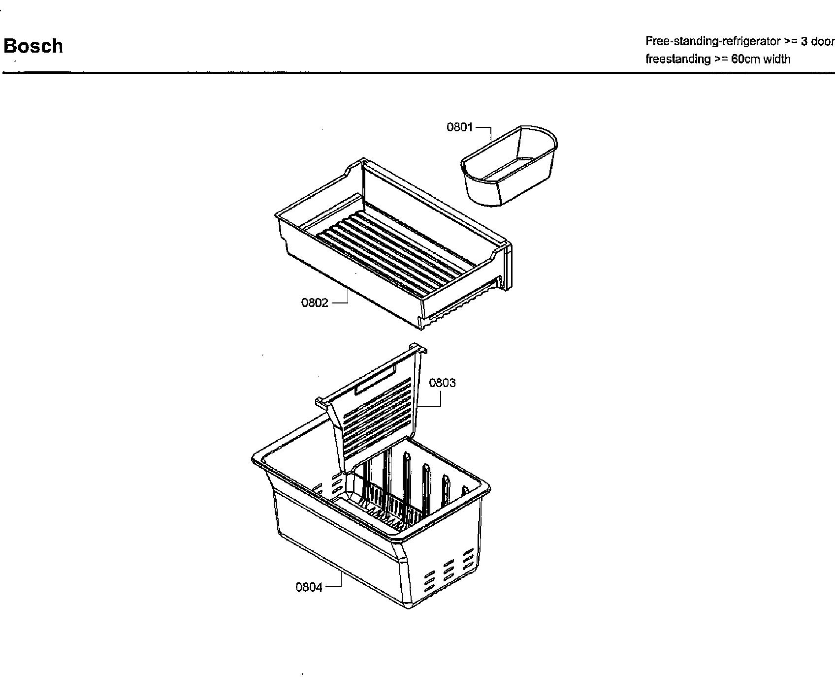 Bosch  Refrigerator  Rack asy