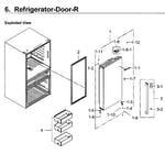 Samsung RF23M8090SR/AA-00 fridge door rt diagram