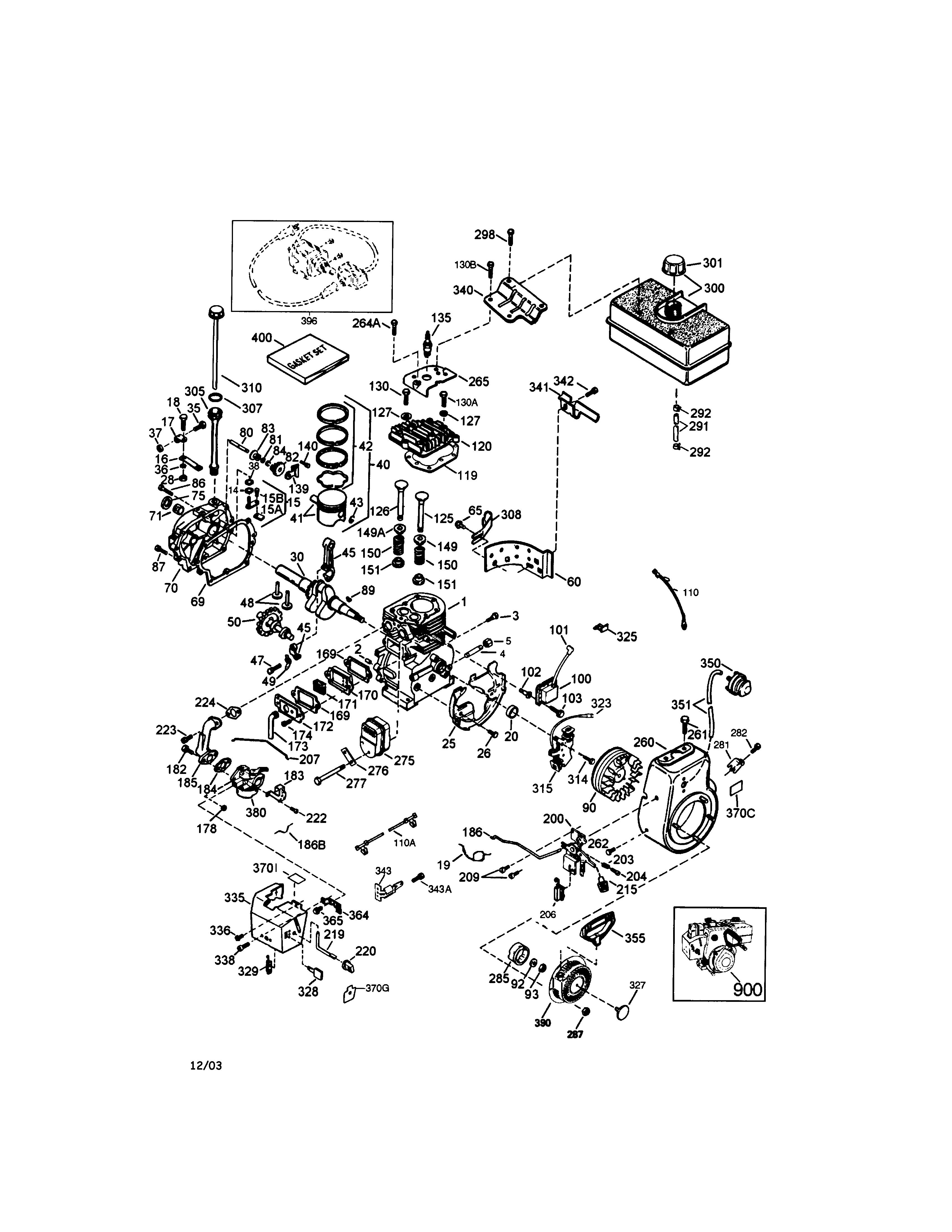 craftsman engine parts