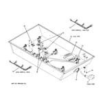 GE ZGU375LSD3SS cooktop box components diagram