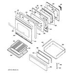 GE JGBP88CEL1CC door & drawer parts diagram