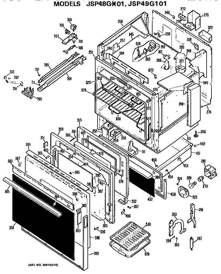 Ge  Ge Free-Standing Drop  Main body/door