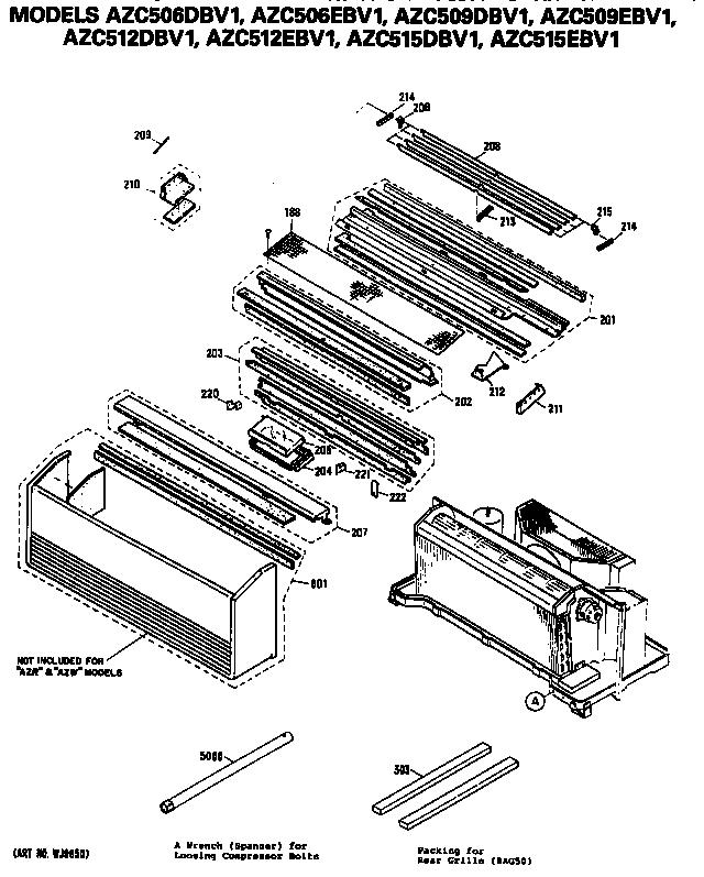 ge ge zoneline room air con parts