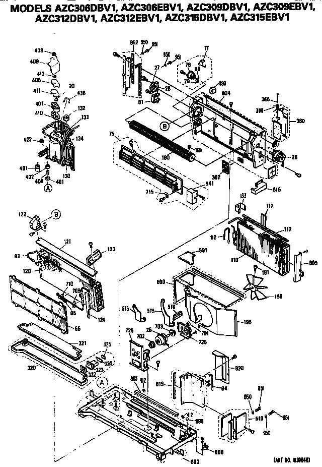 GE AZC309DBV1 chassis diagram