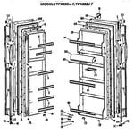 GE TFX22ZJF doors diagram
