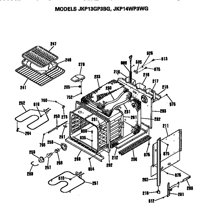 Ge Oven Parts Diagram