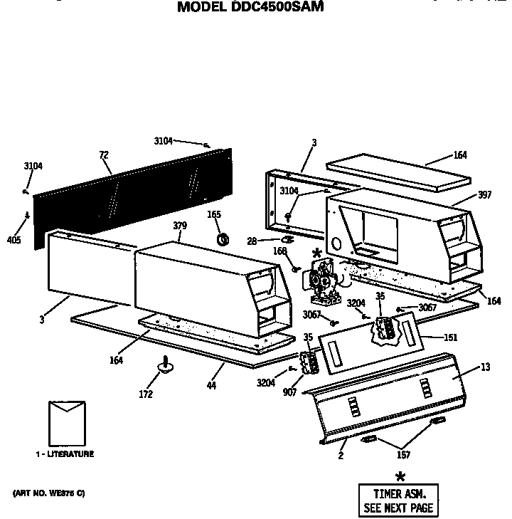 Ge  Dryer  Backsplash and coin box