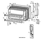 Hotpoint CTX18CABRLWW freezer door diagram