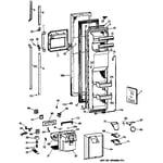 GE MSK27PFZAWW freezer door diagram