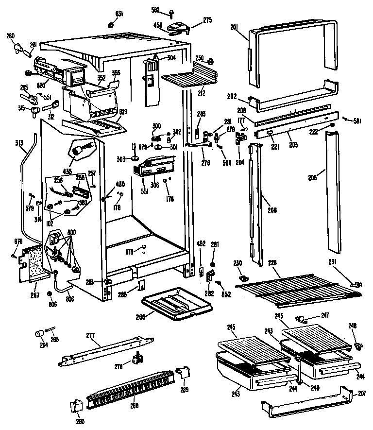 Hotpoint CTF16AGBL chassis diagram