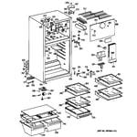 GE TBJ14JABRRAA cabinet diagram