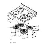 GE JBP79CB1CC cooktop diagram