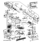 GE TFX25VRZBWW freezer section diagram
