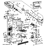 GE CSK27PFZBAA freezer section diagram
