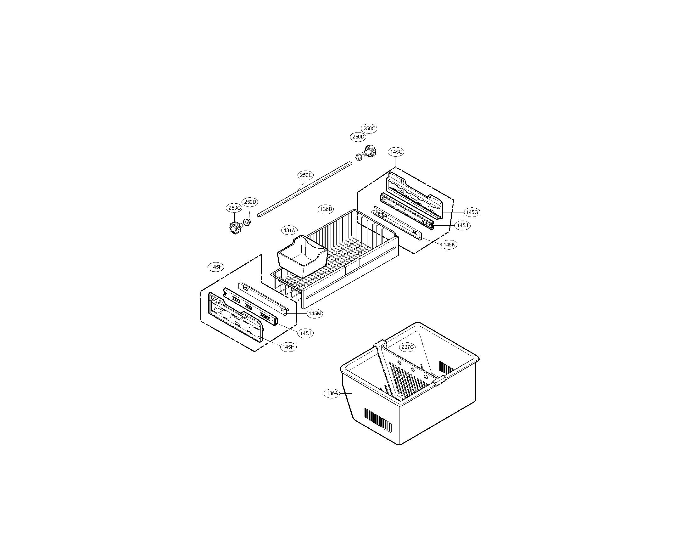 Kenmore Elite  Refrigerator  Freezer parts