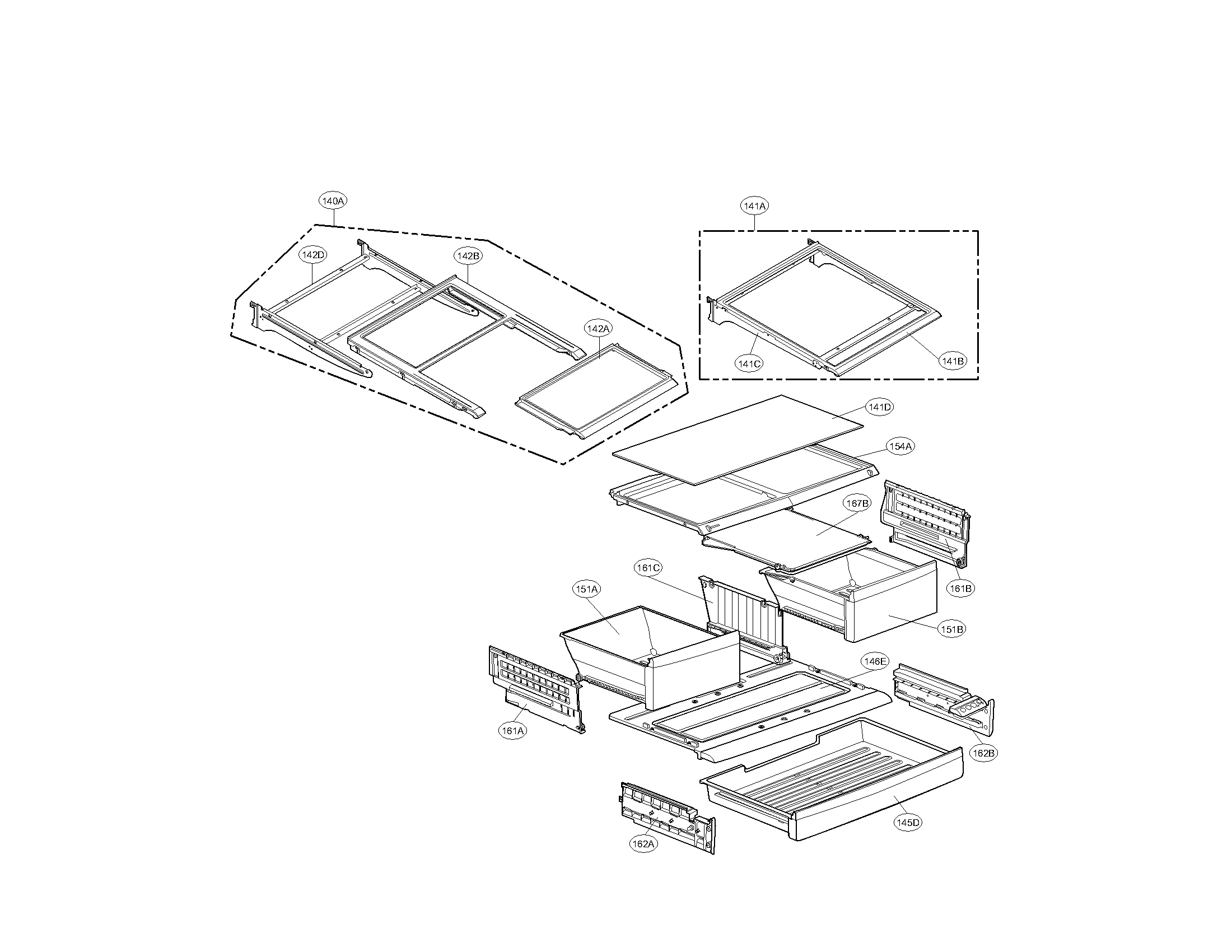 Kenmore Elite  Refrigerator  Refrigeator parts