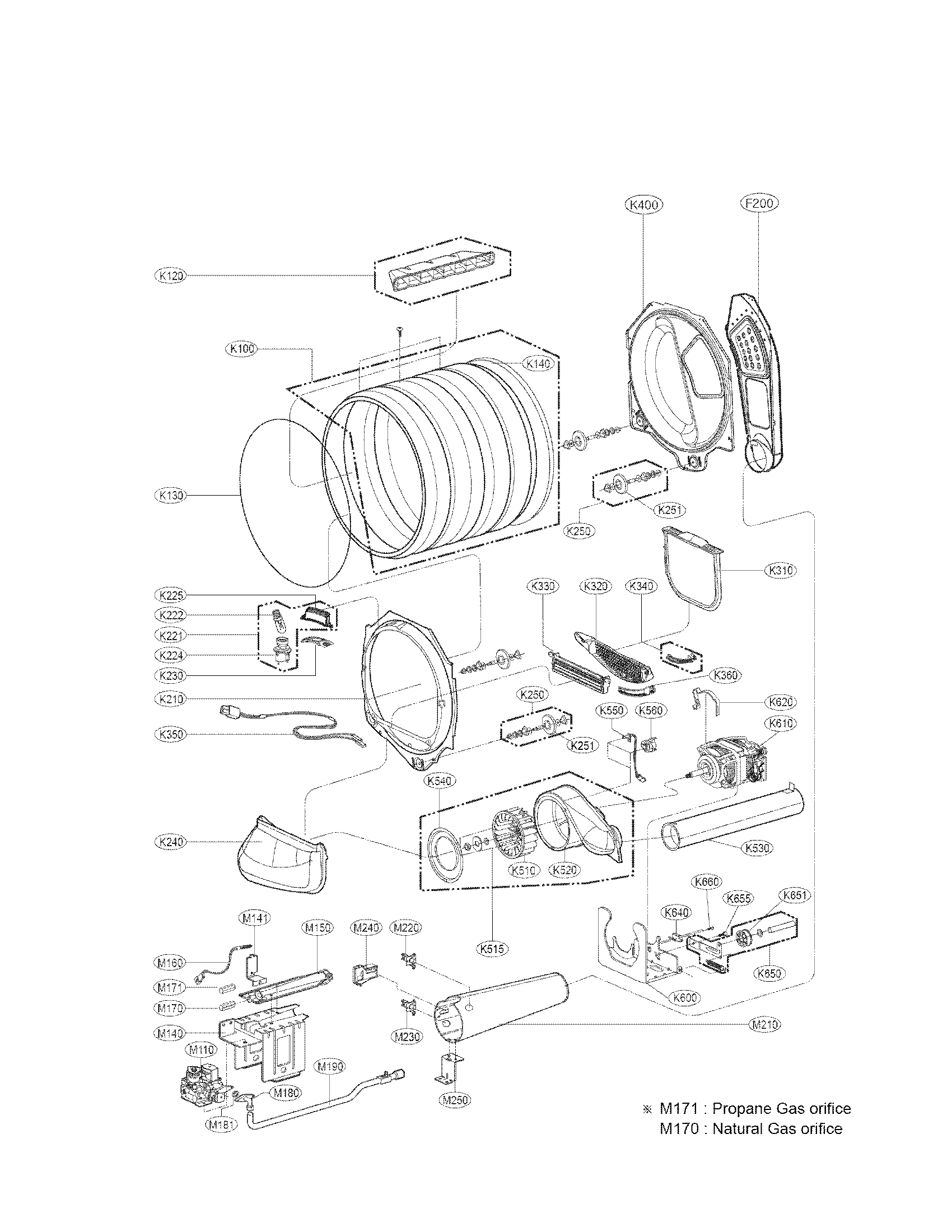 LG DLG4871W drum and motor assembly parts diagram