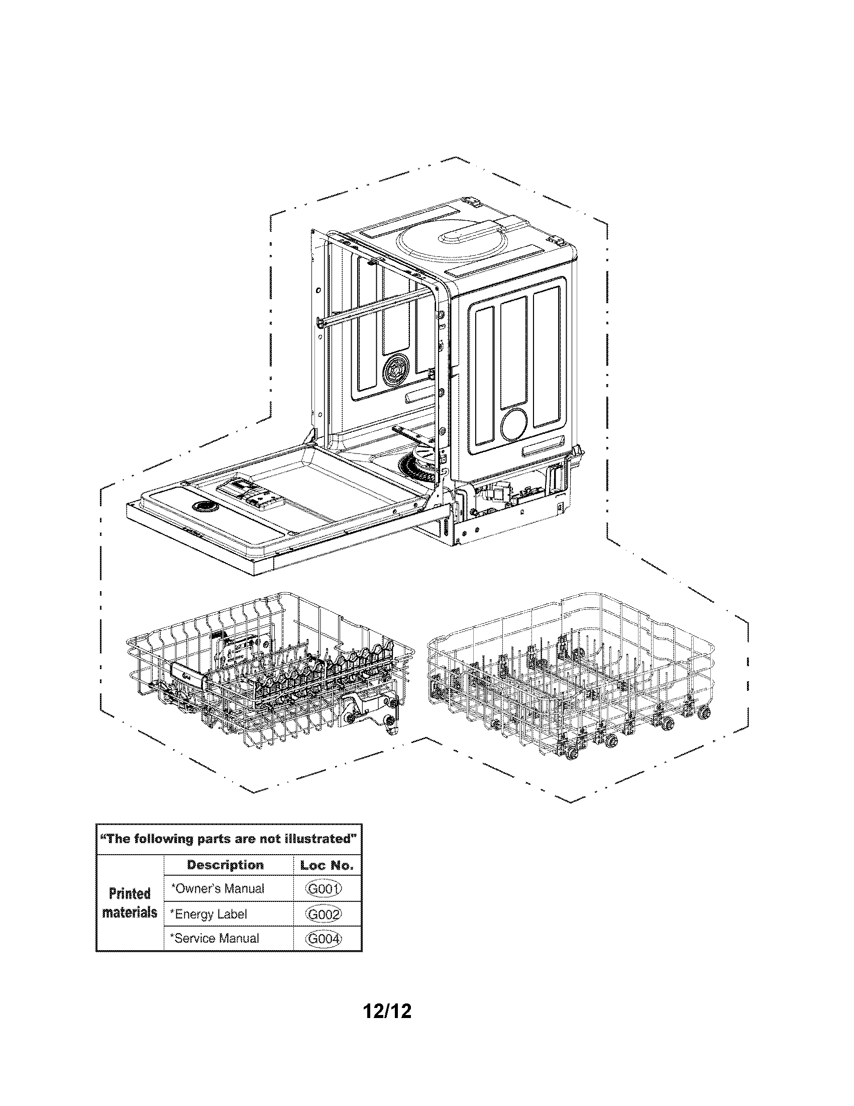 LG LDS5040ST/00 exploded view parts diagram