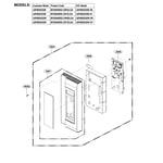 LG LMVM2033SB/00 controller parts diagram