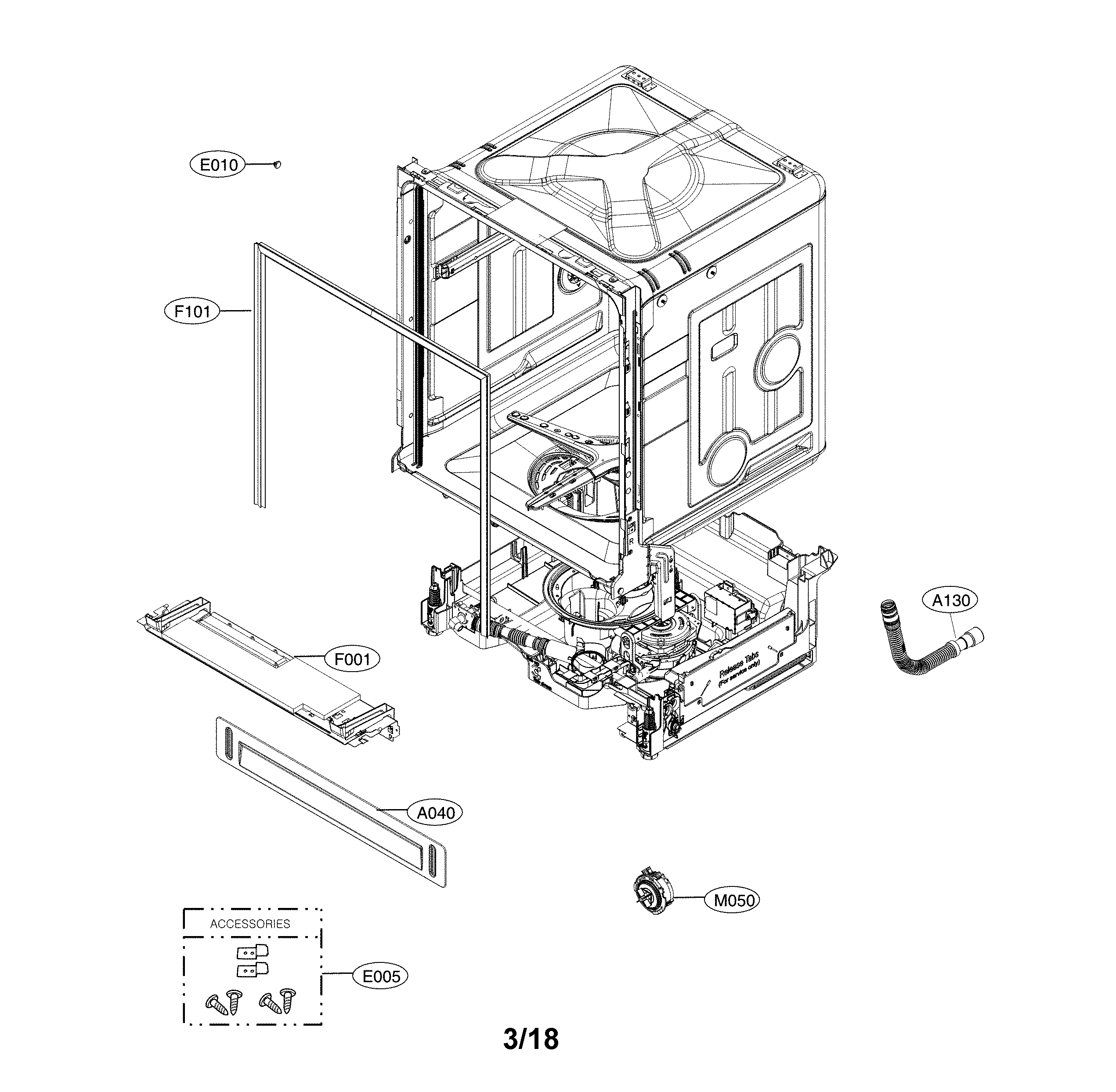 LG LDP6797WW/00 exploded view parts diagram
