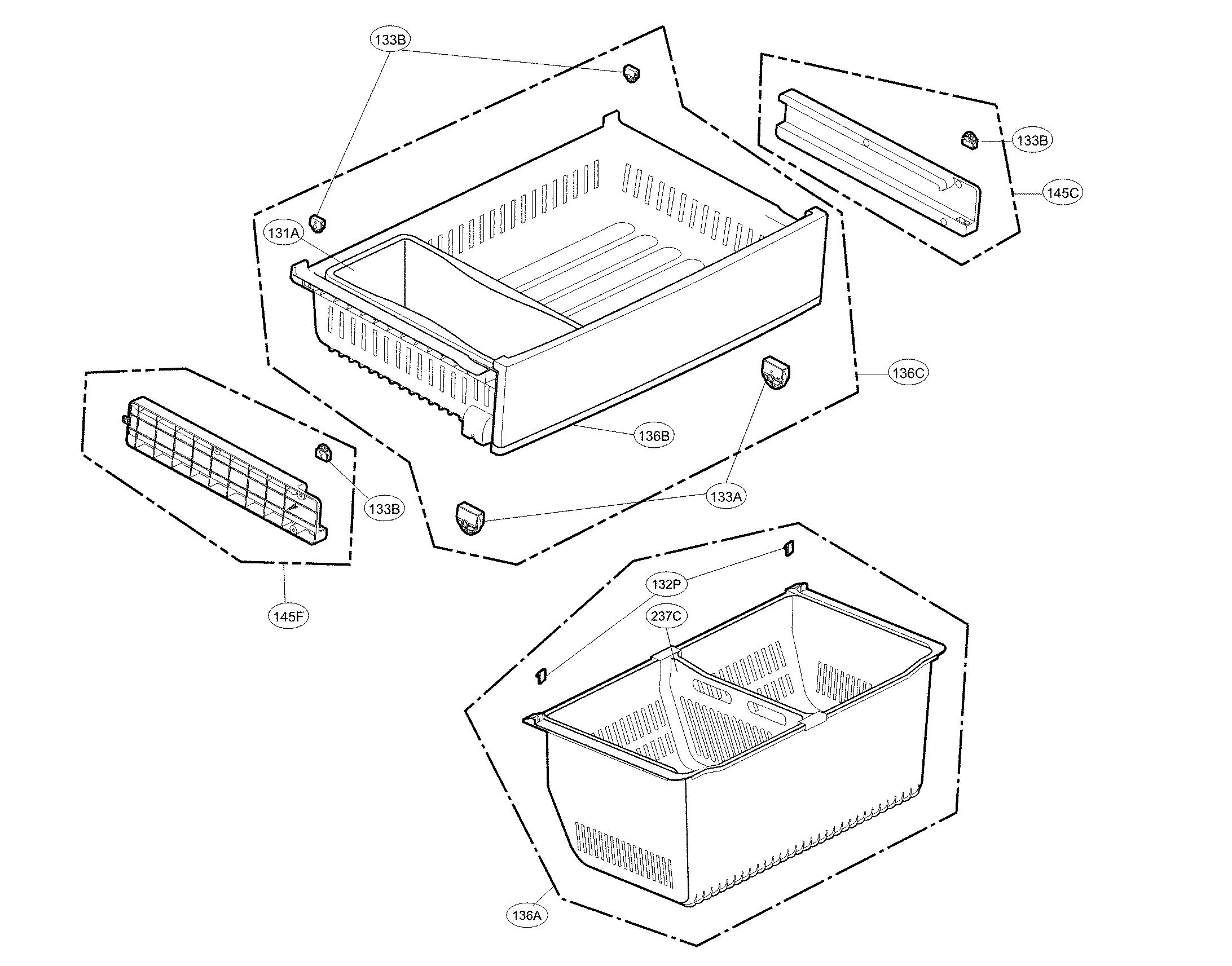 Kenmore  Refrigerator  Freezer parts