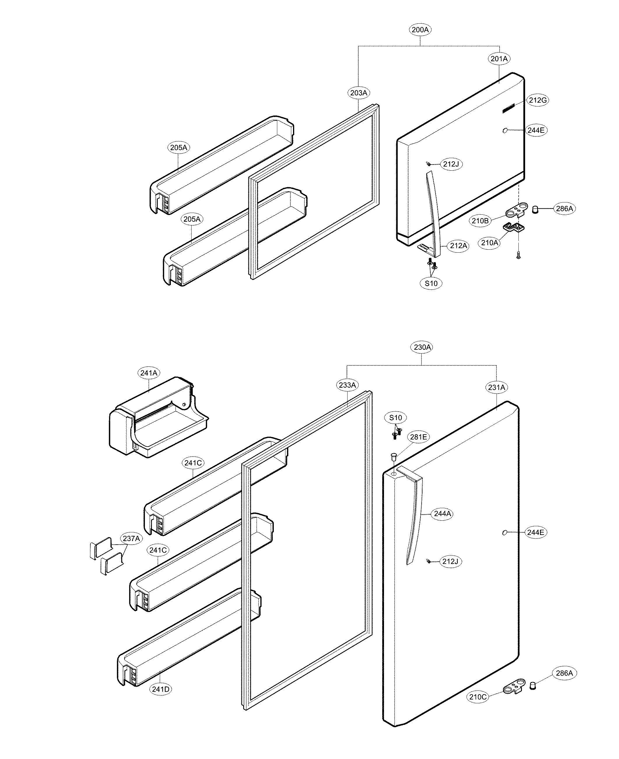 Kenmore  Refrigerator  Door parts