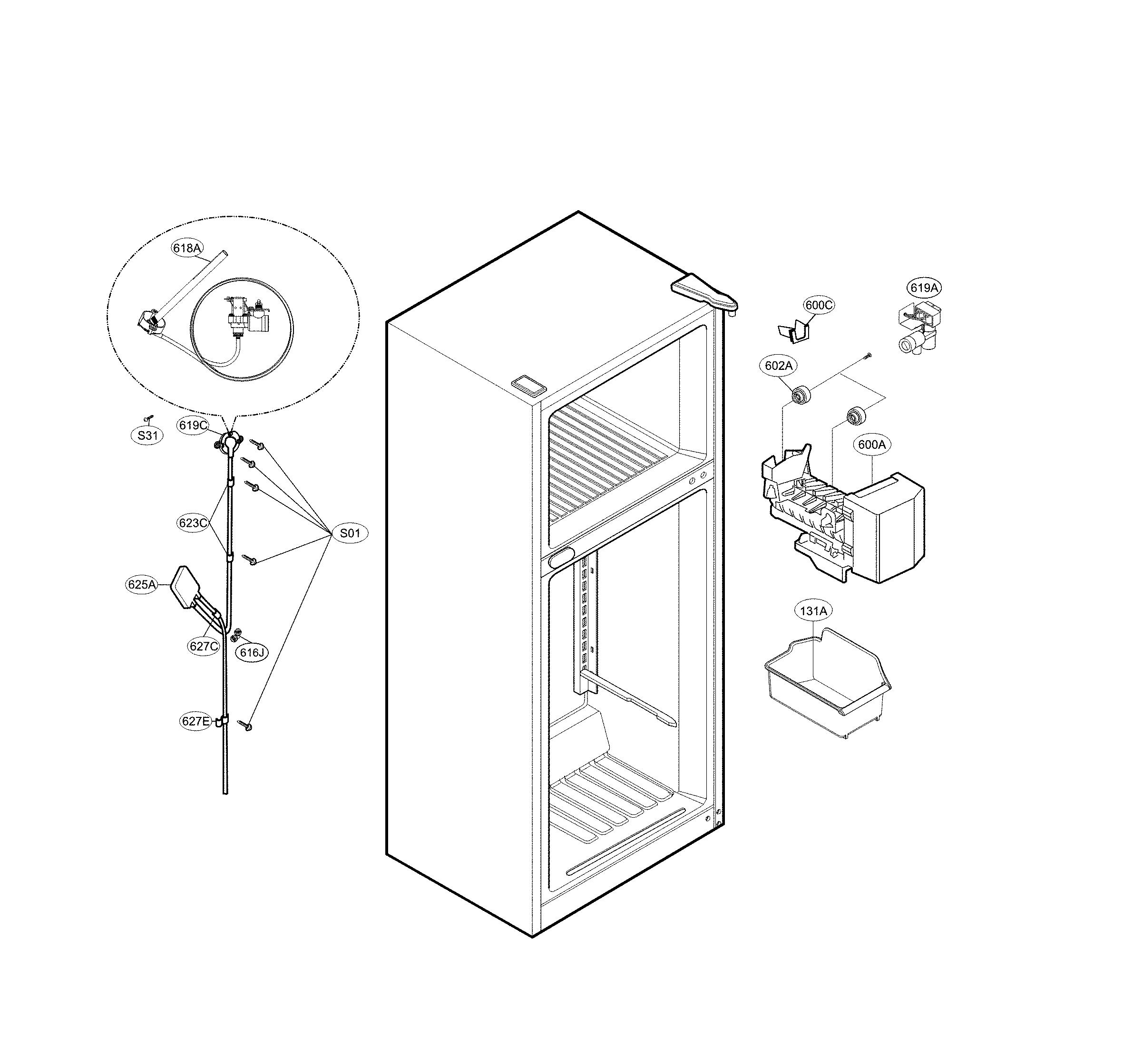Kenmore  Refrigerator  Ice maker parts