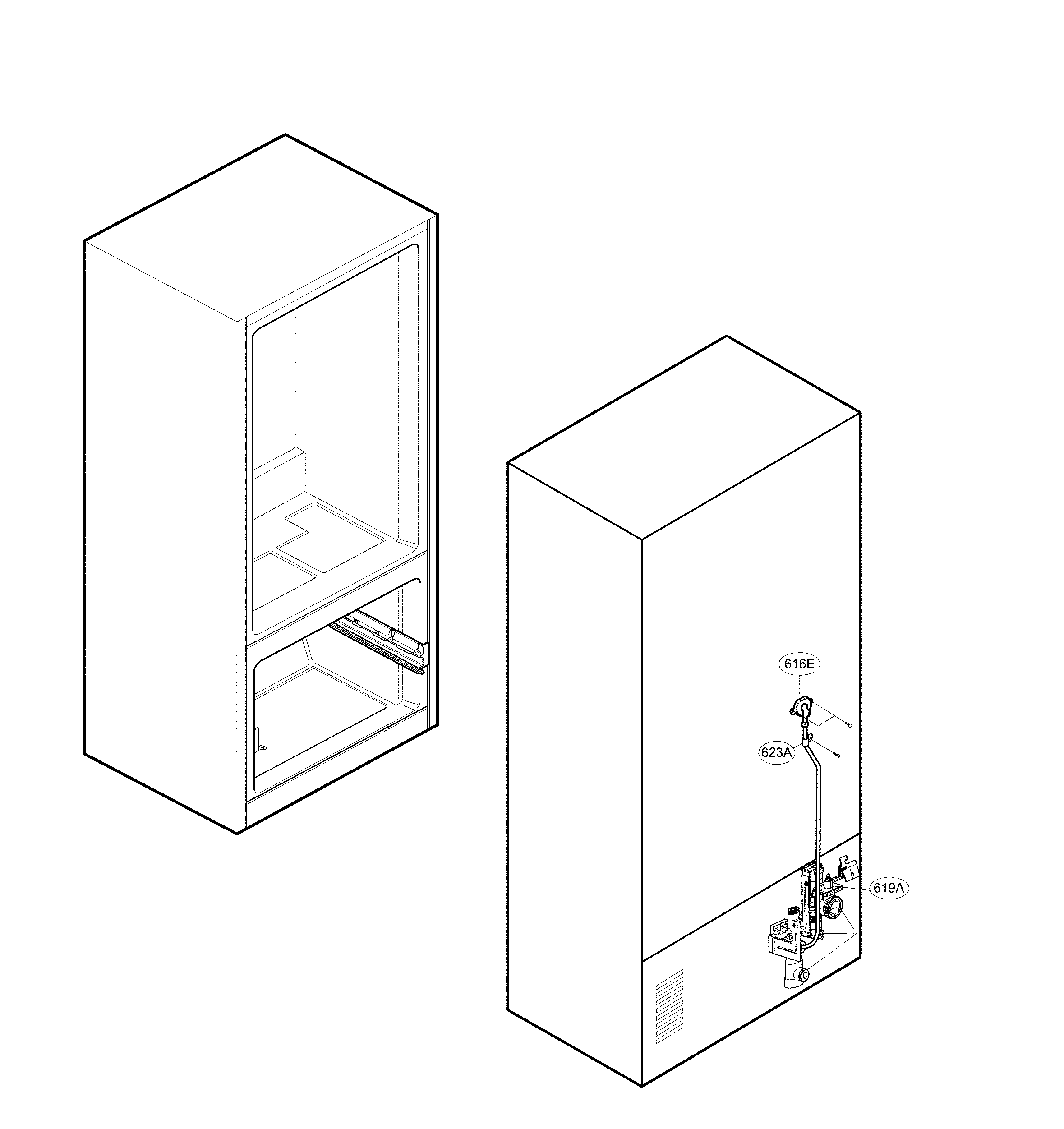 Lg  Refrigerator  Valve & water tube parts