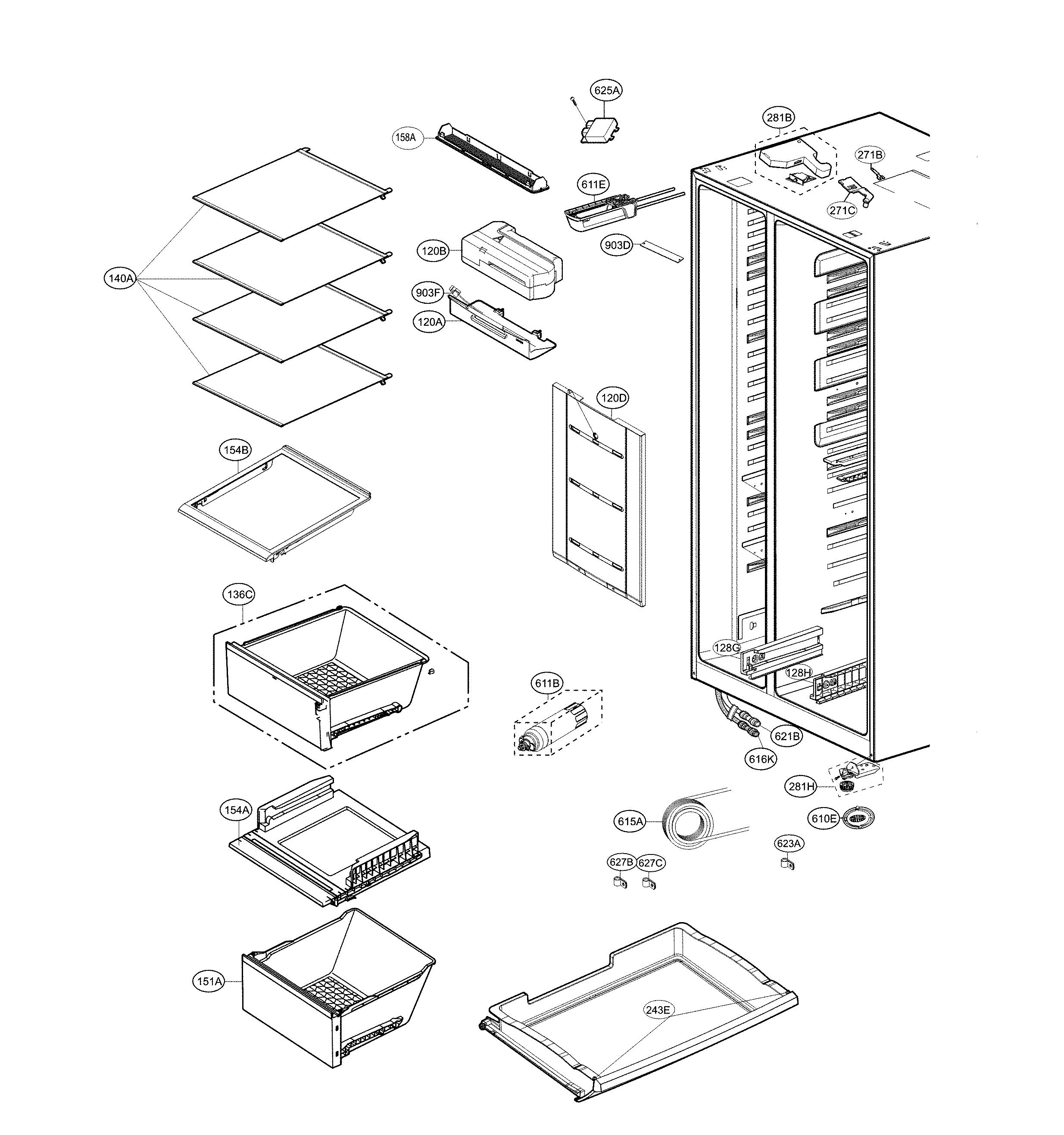 Lg  Refrigerator  Refrigerator compartment