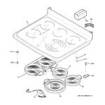 GE PB910DP4BB cooktop diagram