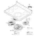 GE JCB850SR2SS cooktop diagram