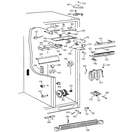 GE TFT28PFBEWW fresh food section diagram