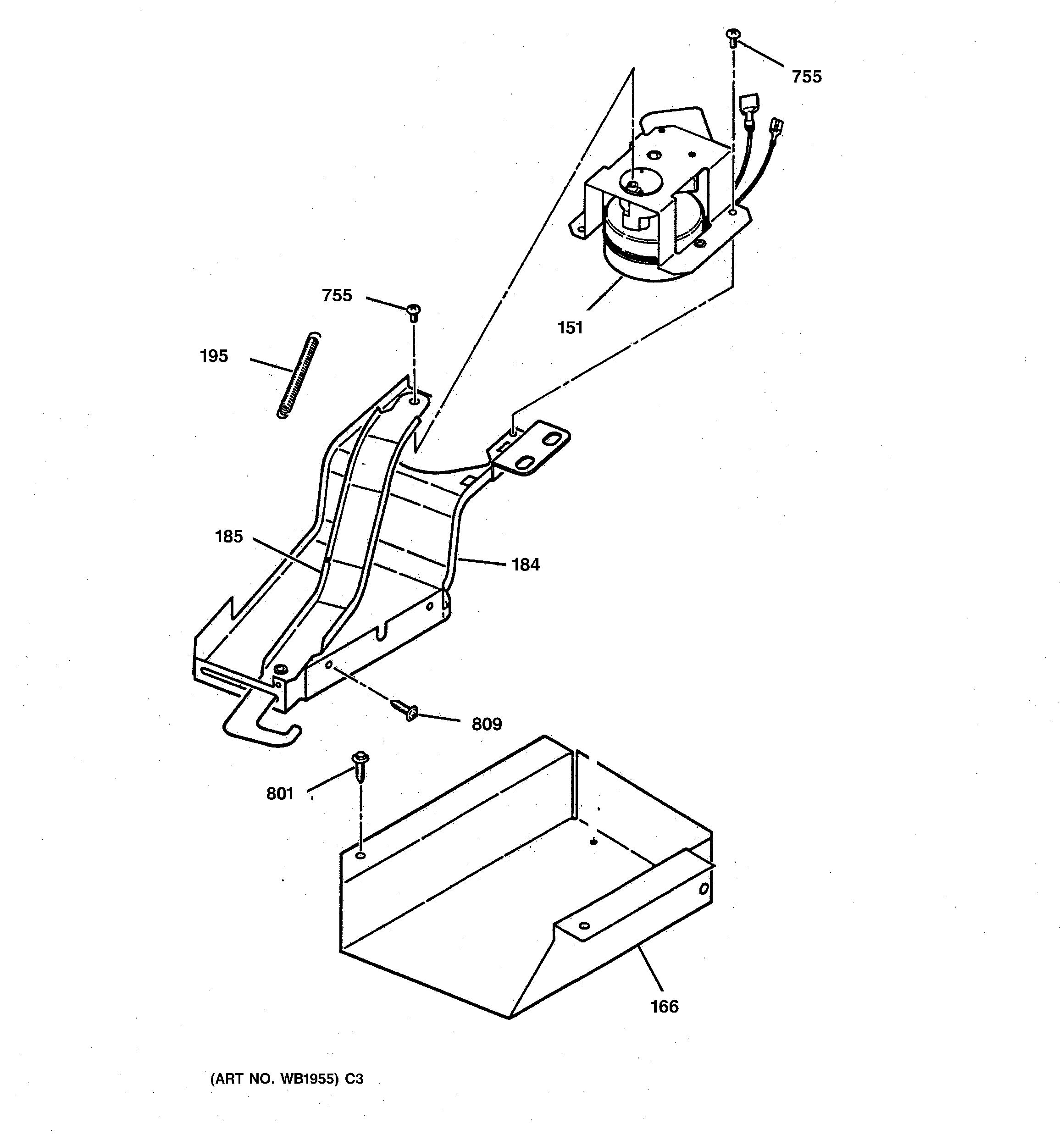 Ge  Gas Range  Door lock