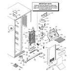 GE PSG27SIMACBS freezer section diagram