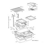 GE TBX19PAXJRBB shelf parts diagram