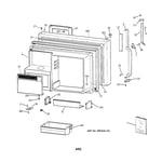 GE TBX22PRYNRAA freezer door diagram