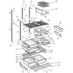 GE PTC22MBMARBB shelves diagram