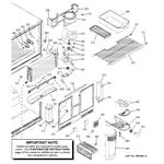 GE PTS25LBMARWW freezer section diagram