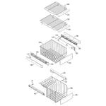 GE ZFSB25DMDSS freezer shelves diagram
